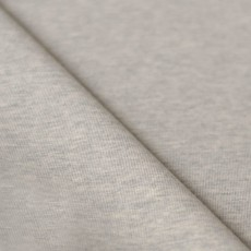 Tissu jersey maille gris chiné coton Bio