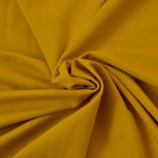 Tissu jersey bio jaune moutarde au mètre