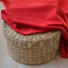 Tissu jersey coton bio rouge