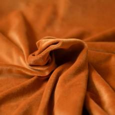 Tissu velours éponge rouille 100% coton biologique à coudre