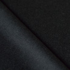Tissu flanelle laine noire luxe