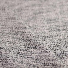 Tissu lainage jacquard bouclette noir et blanc