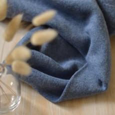 Tissu polaire coton Bio jean chiné épais et chaud au mètre