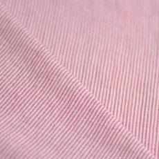Tissu fines rayures rouge rosé et blanc