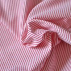 Tissu seersucker rayures rouge en coton Bio