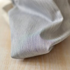 Tissu sergé coton Bio gabardine à rayures bleu marine au mètre