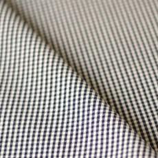 Tissu vichy toile de coton bleu marine