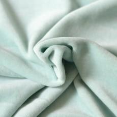 Jersey velours nicky vert menthe amande coton bio