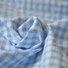 Tissu seersucker vichy à carreaux seaqual