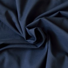 Tissu voile de coton bleu marine