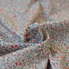 Tissu au mètre à fleurs voile de coton Bio