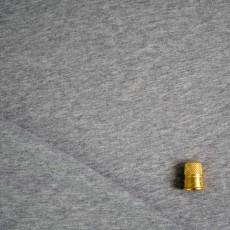 Maille jersey bio gris chinée