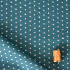 Tssu de coton Bleu laggon à étoiles Froufrou
