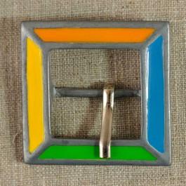 Boucle de ceinture métal carrée 4 couleurs