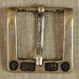 Boucle de ceinture métal rectangulaire gravée