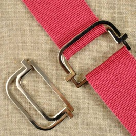 Boucle de ceinture métal argenté à coincement