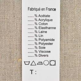 Étiquettes de composition à compléter