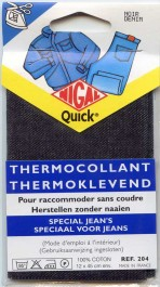 Pièce jean thermocollant