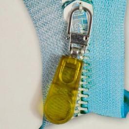 Tirette de fermeture à glissière Translucide jaune