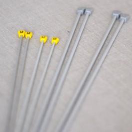 Aiguilles à tricoter droites en métal