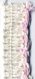 Passepoil rose texturé