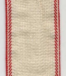 Galon à broder écru bordé rouge 5 cm