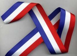 Ruban tricolore largeur 40 mm