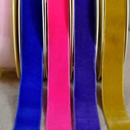 Rouleaux 10 m ruban velours 23 mm