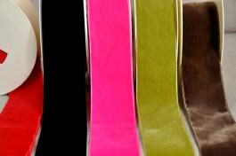Rouleaux 10 m ruban velours 50 mm