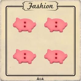 Bouton petit cochon pour vêtement d'enfant