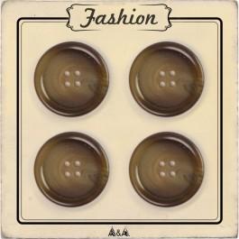 Bouton pour manteau d'hiver marbré marron couture