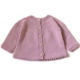 Modèle à tricoter du cardigan Paula en Ambiance 3M-24M