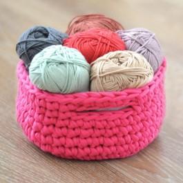 Kit crochet corbeille trapilho
