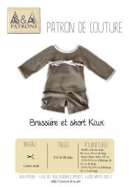 Patron de couture brassière pour bébé Kiwi