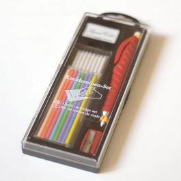 Crayon craie pour tissu blanc, bleu, rouge