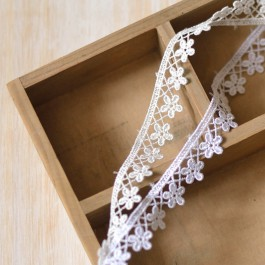 guipure petite fleurs blanc écru pour mariée