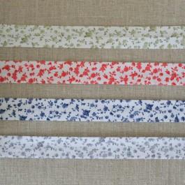 Biais à fleurs 4 couleurs