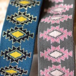 Elastique lurex large pour ceinture jupe ethnique