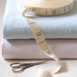 Etiquette composition coton bio fabriqué en France et taille