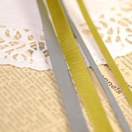 lanière dorée ou argentée simili cuir 5 et 10 mm pour sac, chaussure