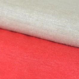 Jersey de lin BIO rouge et beige