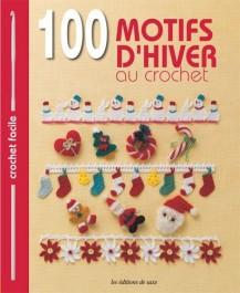 Livre 100 motifs d'hiver au crochet cadeau