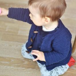 Kit tricot bébé 1 à 18 mois gilet Margot
