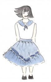 Patron de jupe foulard enfant
