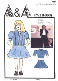 Patron de veste et jupe enfant P014