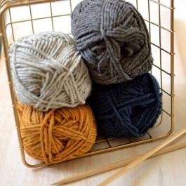 Pelote de laine recyclée Cyclades tricot débutant