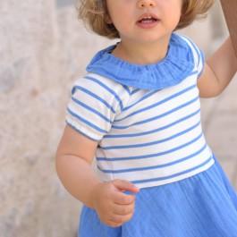 Patron couture robe Alouette bébé 3 mois - 3 ans
