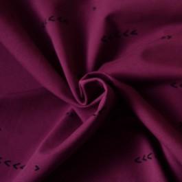 Tissu sweat bio aubergine fleche Chat Chocolat