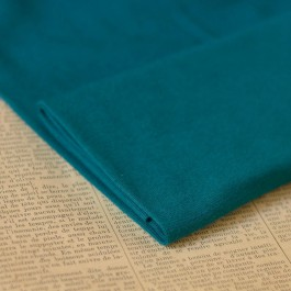 Tissu bord-côte bio bleu canard
