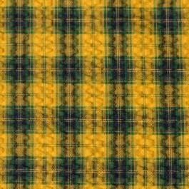 Tissu à carreaux jaune moutarde au mètre